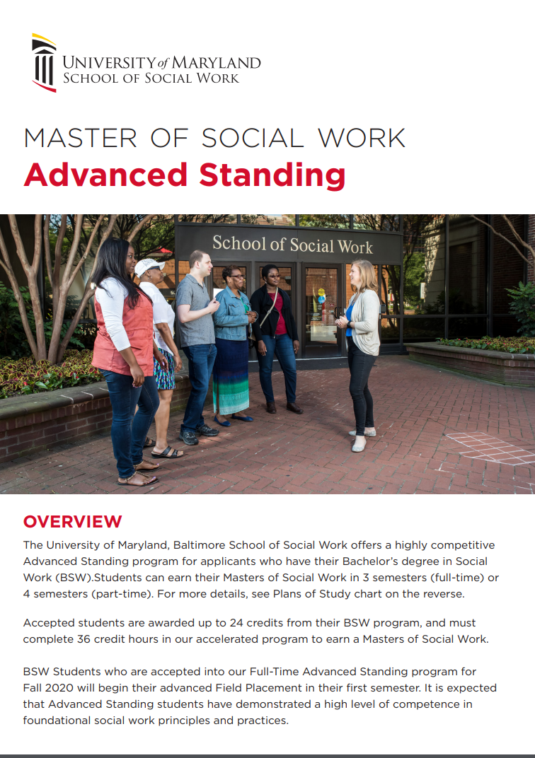 Advanced Standing