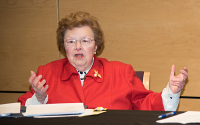 Mikulski to Students: Don't Give up, Don't Give In